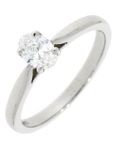 Platinum 0.40ct Diamond Oval Solitaire Engagement Ring