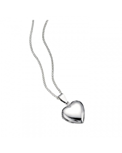 Beginnings Silver Heart Locket Necklace with Chain