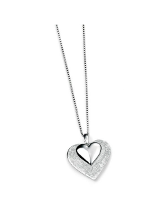 Elements Silver Double Heart Necklace