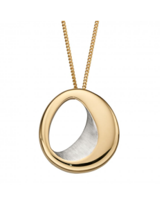 Fiorelli Silver Gold Plated Abstract Necklace