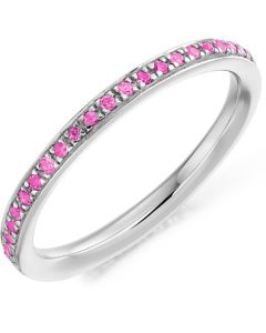 18ct White Gold 0.30ct Pink Sapphire Full Eternity Ring