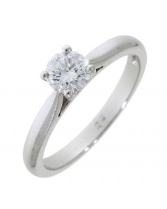 Round Brilliant 0.50ct Platinum Ring