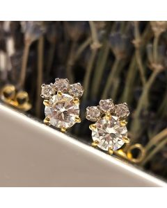 Pre-Owned 18ct Gold Diamond Earrings 1.88ct