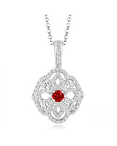 Tivon Versailles Ruby and Diamond Necklace