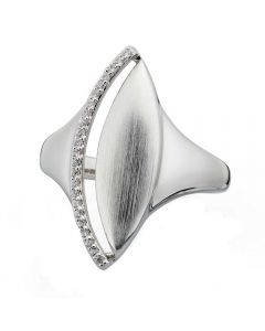 Fiorelli Silver and Cubic Zirconia Marquise Ring