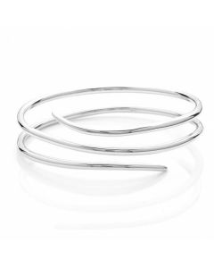 Rachel Galley Silver Molto Spike Wrap Bangle