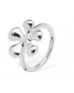 Lucy Quartermaine Silver Raised Splash Ring
