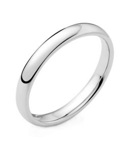 9ct White Gold 3mm Wedding Ring By Charles Green