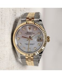 Rolex 18ct Yellow Gold & Oyster Steel Ladies Datejust 31