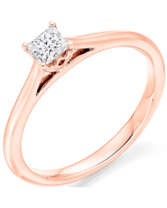 9ct Rose Gold 0.26ct Diamond Solitaire Engagement Ring