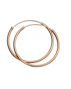 Elements Gold Rose Gold Hoops