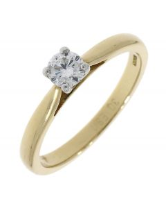 Round Brilliant 0.30ct Gold Ring