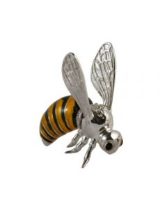 Saturno Large Silver and Enamel Bee figurines