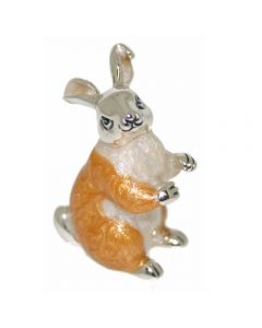 Saturno Silver Animals Medium Hare Ornament Figurine