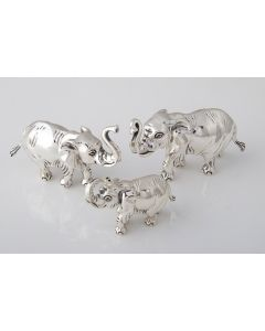 Saturno Animals Small Silver Elephant Ornament