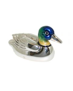 Saturno Animals Silver & Enamel Duck