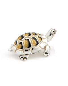 Saturno Silver Small Tortoise Ornament