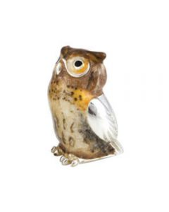 Small Enamel Owl by Saturno