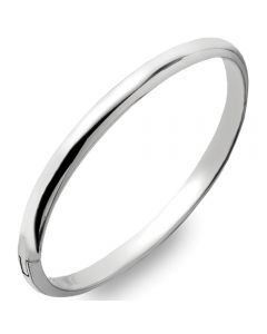 Curteis Sterling Silver 5.5mm Solid Hinged Bangle
