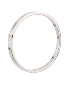 Curteis Silver Hinged Round Bangle