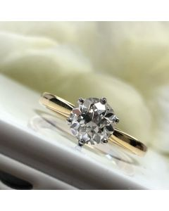 Pre-Owned 18ct Gold 1.33ct Diamond Solitaire Ring