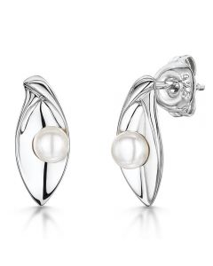 Jools by Jenny Brown Sterling Silver Pearl Marquise Earrings