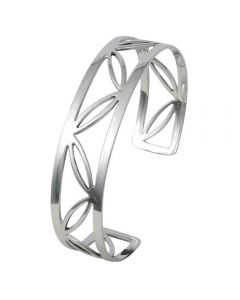 Sterling Silver Cut-Out Cuff Bangle