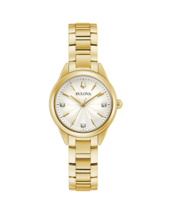 Bulova Ladies Futuro Gold Watch