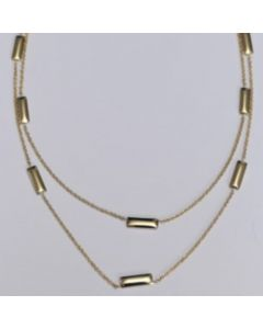9ct Yellow Gold Tag Necklet