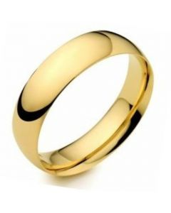 9ct Gold 4mm Light Court Wedding Ring By Charles Green