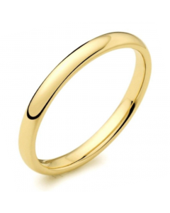 18ct Yellow Gold 3mm Light Court Profile Wedding Ring By Charles Green