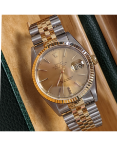 Rolex 18ct Yellow Gold & Oyster Steel Datejust 36