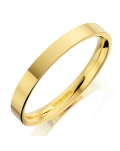 18ct Yellow Gold 2.5mm Flat Wedding Ring By Charles Green