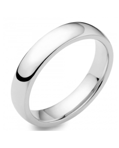 9ct White Gold 4mm Light Court Wedding Ring By Charles Green