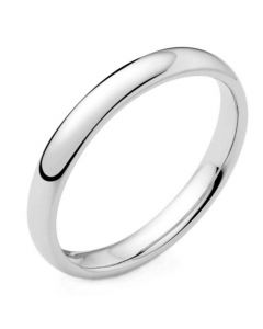 9ct White Gold 5mm Light Court Profile Wedding Ring By Charles Green
