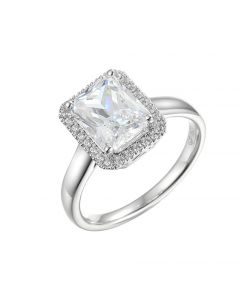 Amore Sterling Silver & Cubic Zirconia 'Antarctica' Ring
