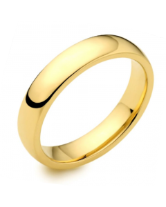 18ct Yellow Gold 4mm Medium Court Wedding Ring By Charles Green
