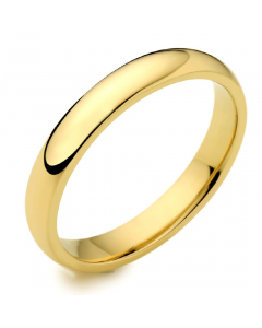 18ct Yellow Gold 3mm Medium Court Wedding Ring By Charles Green