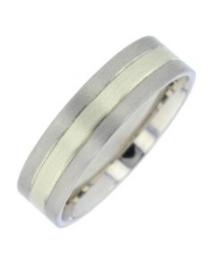 Palladium and 9ct White Gold Wedding Ring By Charles Green