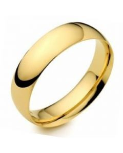 18ct Gold 4mm Light Court Wedding Ring By Charles Green
