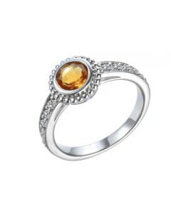 Amore Sterling Silver & Citrine Ring