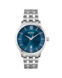 BOSS Gents Stainless Steel With Blue Dial Elite Watch