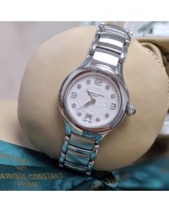 Frederique Constant Ladies Stainless Steel Dot Dial Watch