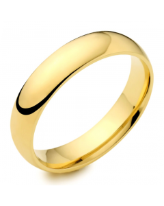 9ct Yellow Gold 5mm Medium Court Wedding Ring By Charles Green