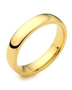 9ct Yellow Gold 4mm Medium Court Wedding Ring By Charles Green