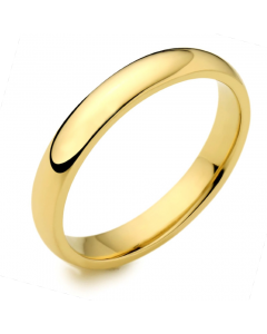 9ct Yellow Gold 3mm Medium Court Wedding Ring By Charles Green