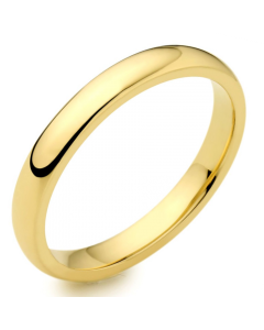 18ct Yellow Gold 2.5mm Medium Court Wedding Ring By Charles Green