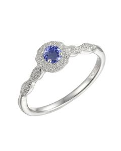 Amore Argento Silver Tanzanite Cluster Ring