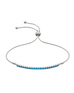 Fiorelli Sterling Silver Bar Toggle Turquoise Bracelet