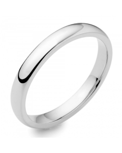 18ct White Gold 2.5mm Court Wedding Ring By Charles Green